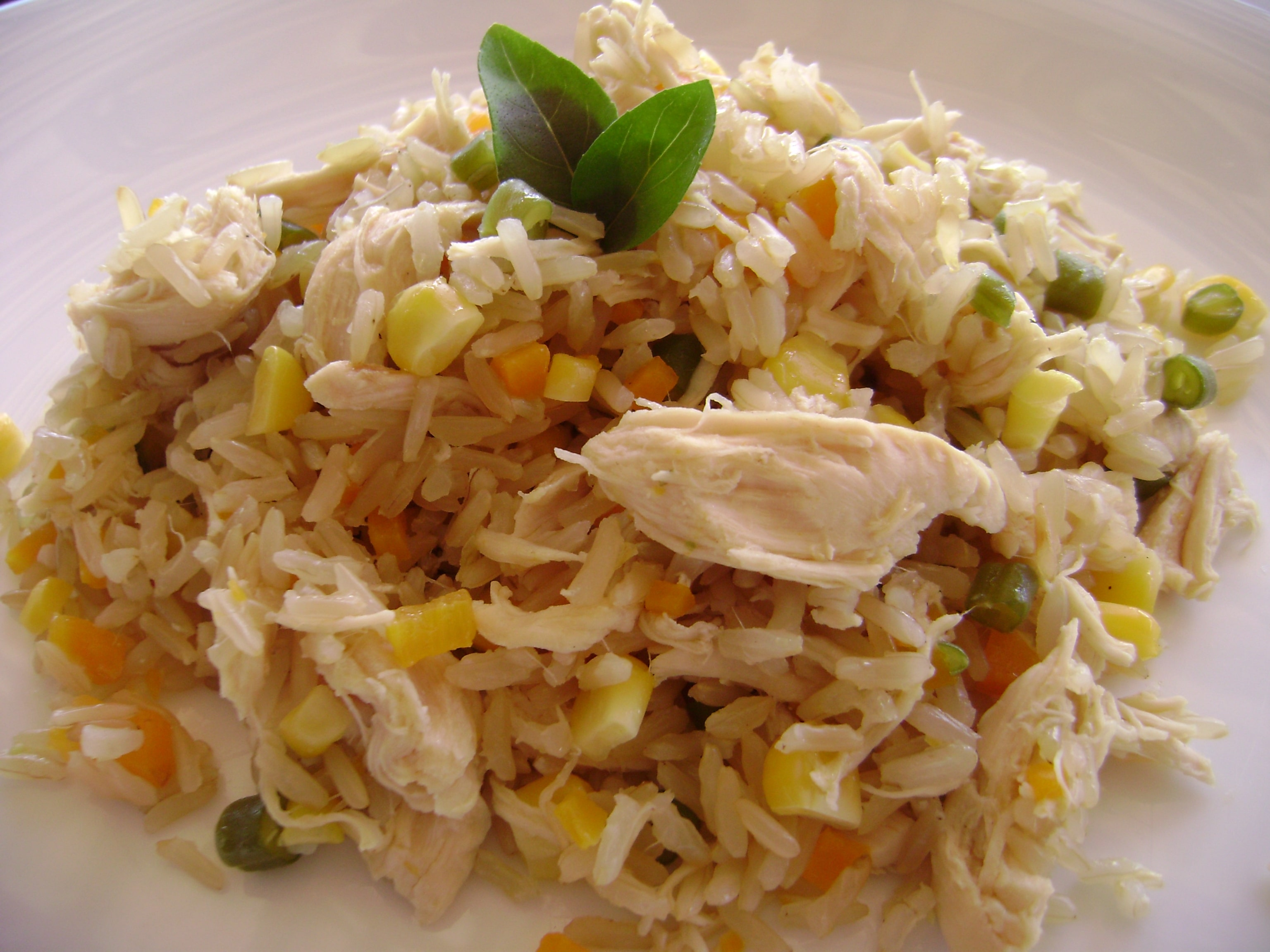 arroz com peito de frango