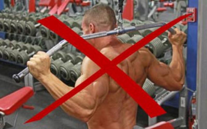 Exercícios que não devem ser realizados