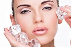 Tratamento facial com gelo – Rejuvenescedor